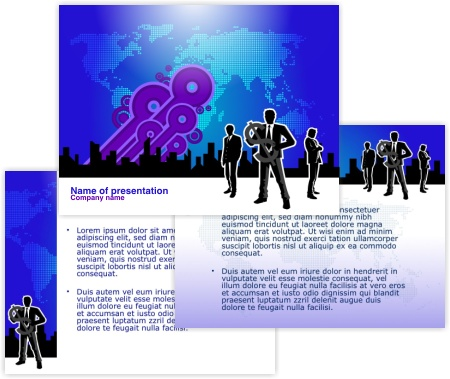 free vector  Free Business Powerpoint Templates Pack 01