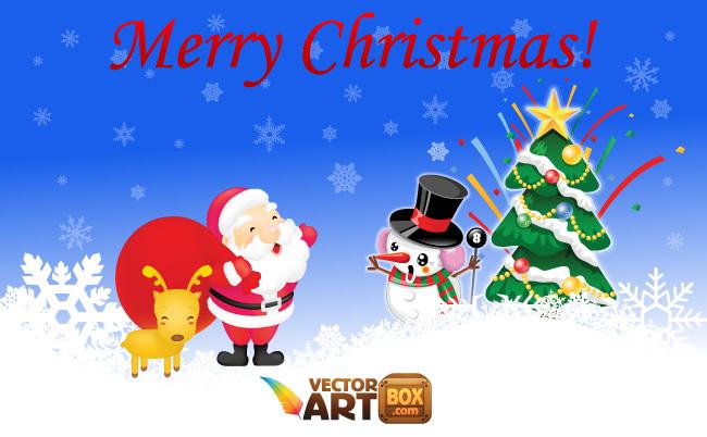 free vector Free Christmas Vectors