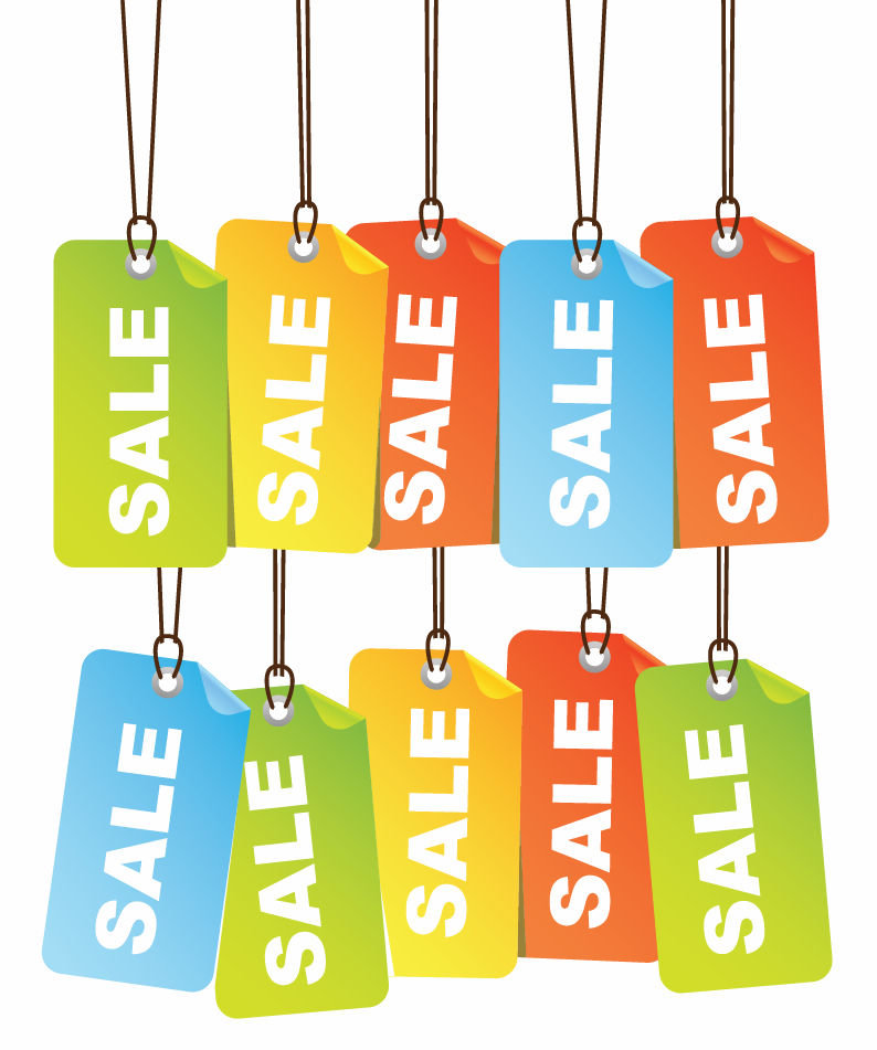 free vector Free Colourful Sale Tags Vector Illustration