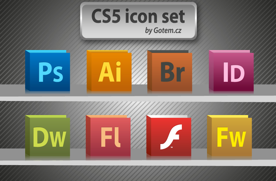 free vector Free CS5 icon pack