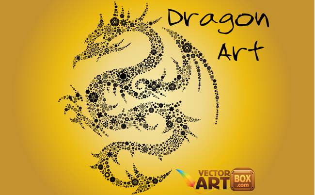 free vector Free Dragon Art