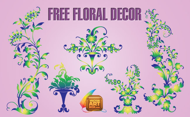 free vector Free Floral Decor