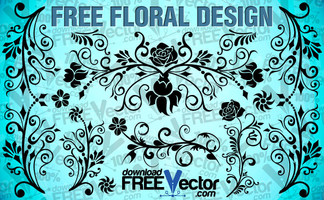 free vector Free Floral Design
