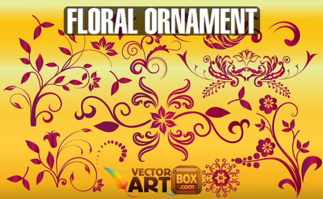 free vector Free Floral Ornament