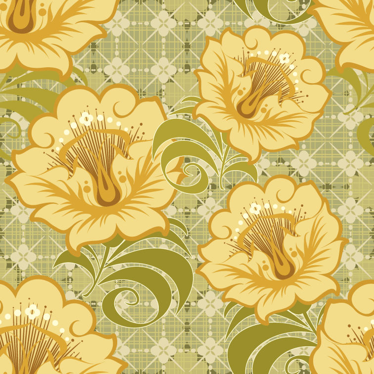 free vector Free Floral Seamless Background Vector