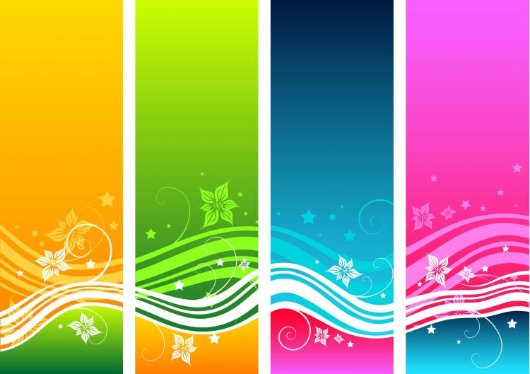 free vector Free Floral Swirls Vector Background