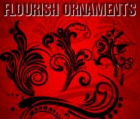 free vector Free Flourish Ornaments