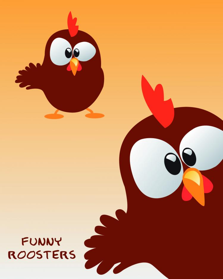 free funny rooster vector free vector 4vector
