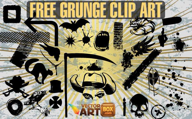 free vector Free Grunge Clip Art