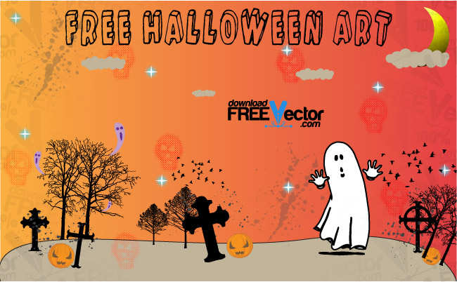 free vector Free Halloween Art