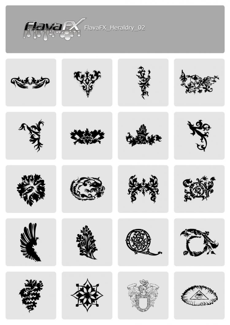 free vector Free heraldry vector sets