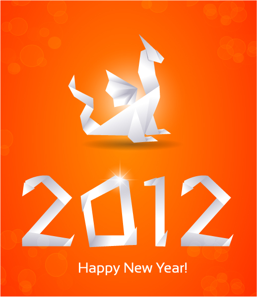 free vector Free New Year Vector Greeting Card