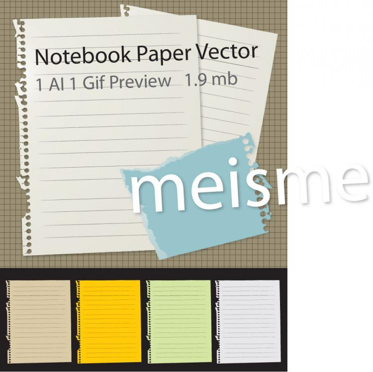 free vector Free Notebook Paper Vector