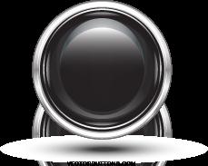 free vector Free Platinum Black Circle Button