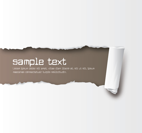 free vector Free Ripped Paper Vector