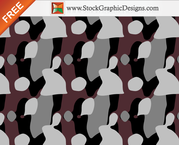 free vector Free Seamless Camouflage Pattern Background Vector - 4 Colours