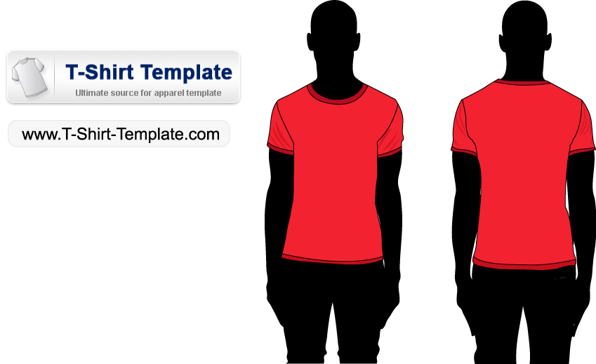 free vector Free Short sleeve T-shirt Template Illustrator