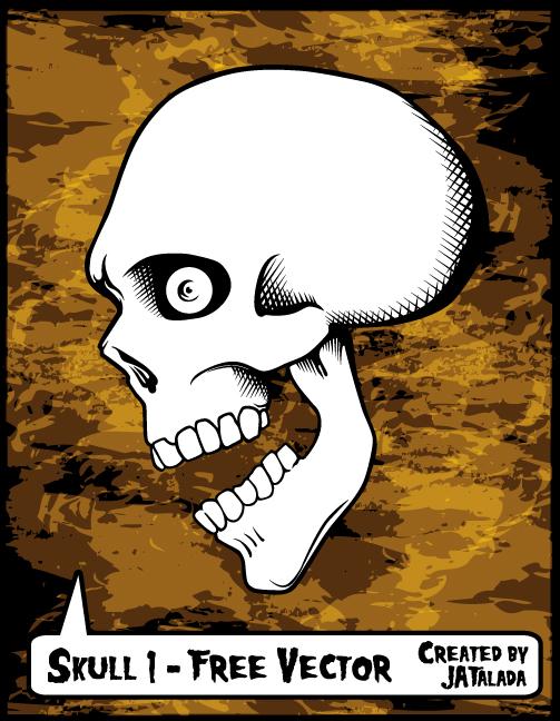 free vector Free Skull Vector - Skull 1
