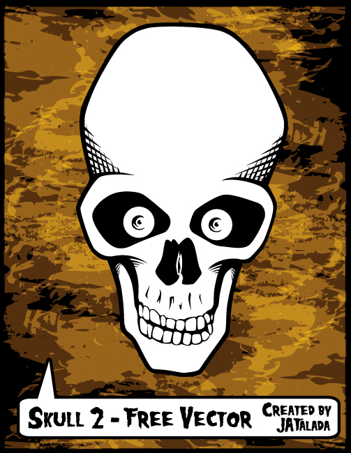 free vector Free Skull Vector - Skull 2