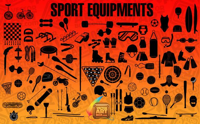free vector Free Sport Equipments