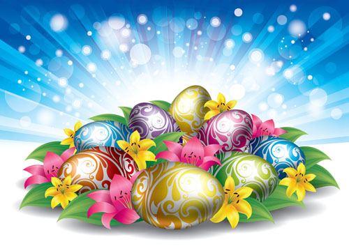 Free Stock Easter Eggs Backgrounds Vector Background Grass