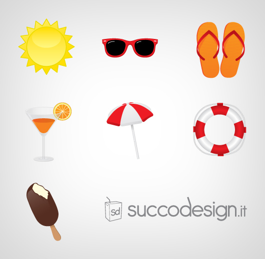 free vector Free Summer Icon Vector Set
