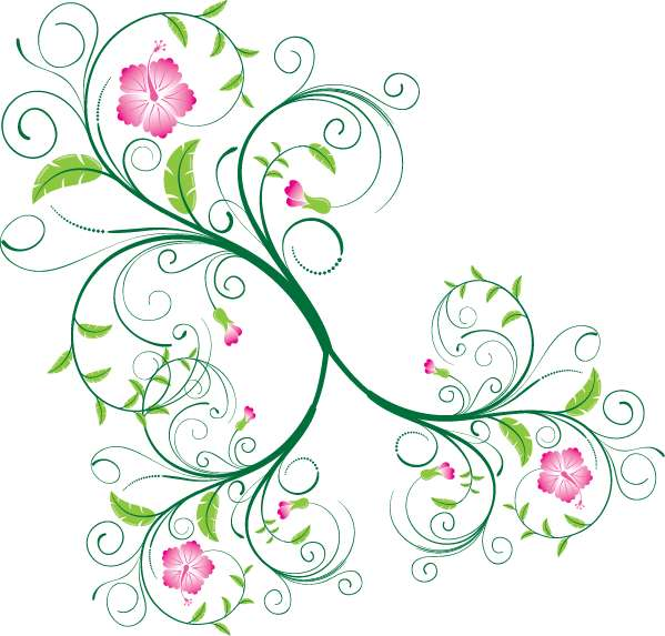 free vector Free Swirl Floral Vector