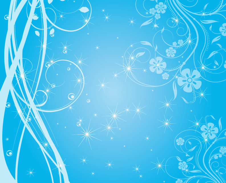 free vector Free Swirly Blue Stars Vector Background