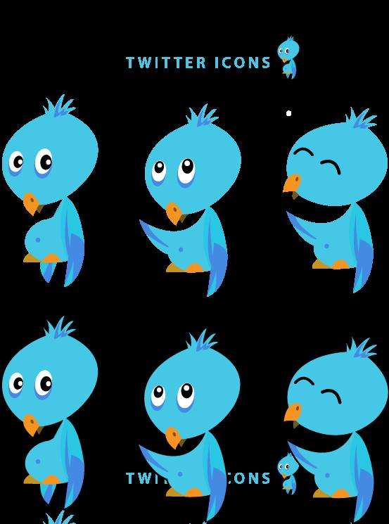 free vector Free Twitter bird icons