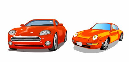 free vector Free Two Cars Vector