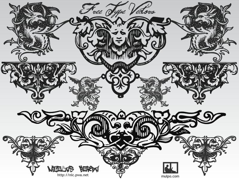 free vector Free Typographic Ornaments