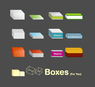 free vector Free Vector Boxes