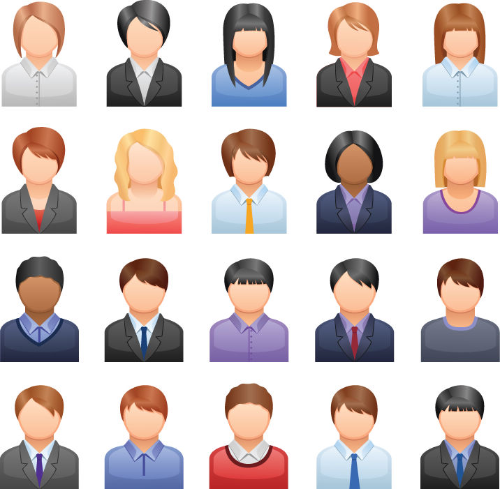 free vector Free Vector Business People Icons