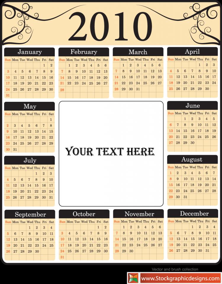 free vector Free Vector Calendar Set
