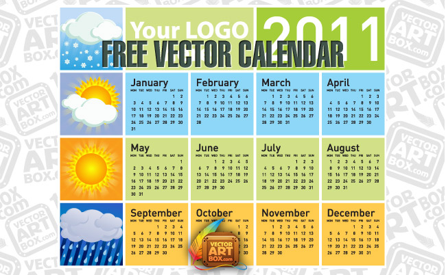 free vector Free Vector Calendar