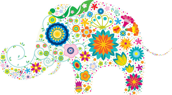 free vector Free Vector Colorful Elephant
