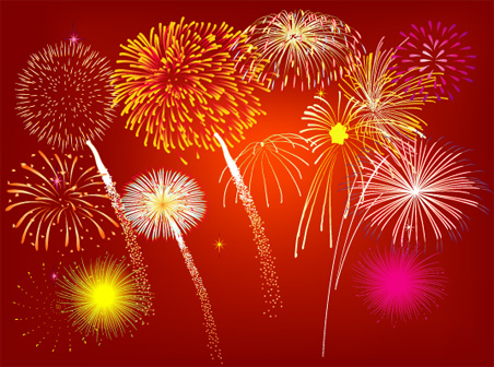 free vector Free Vector Fireworks