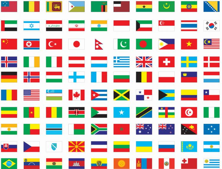 Free Vector Flags of The World Free Vector  4Vector