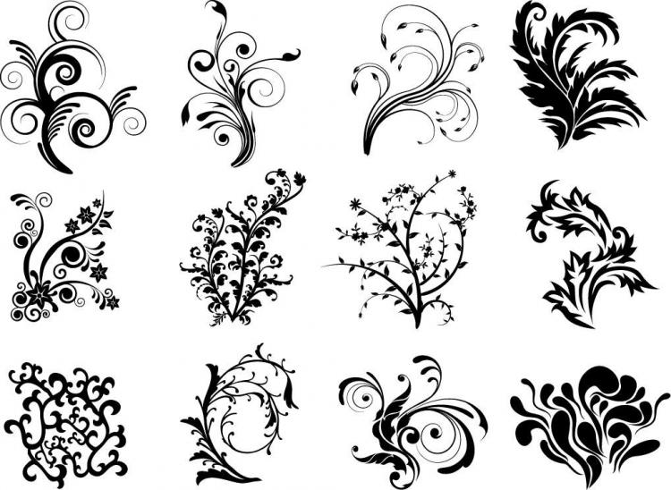 Free Vector Floral Curves Free Vector 4vector