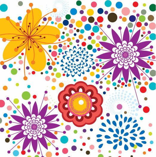 free vector Free Vector Floral Pattern Background