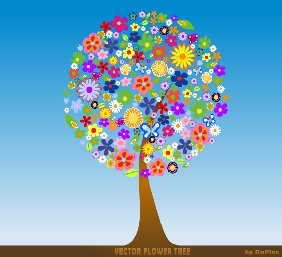 free vector Free Vector Flower Tree
