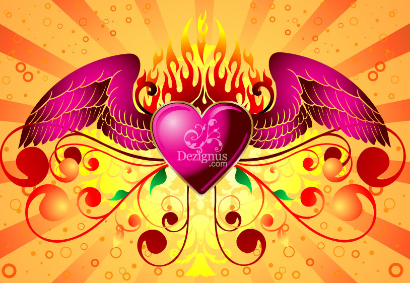 free vector Free Vector Graphic  Winged Heart