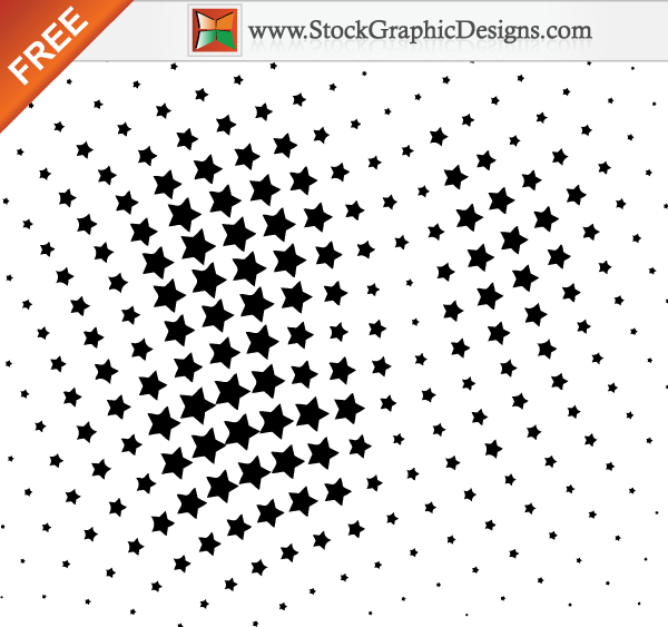 free vector Free Vector Halftone Star Design Elements