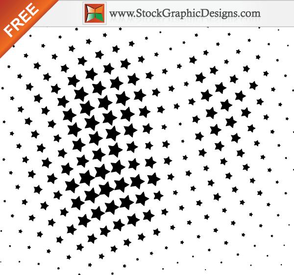 free vector Free Vector Halftone Star Design Elements