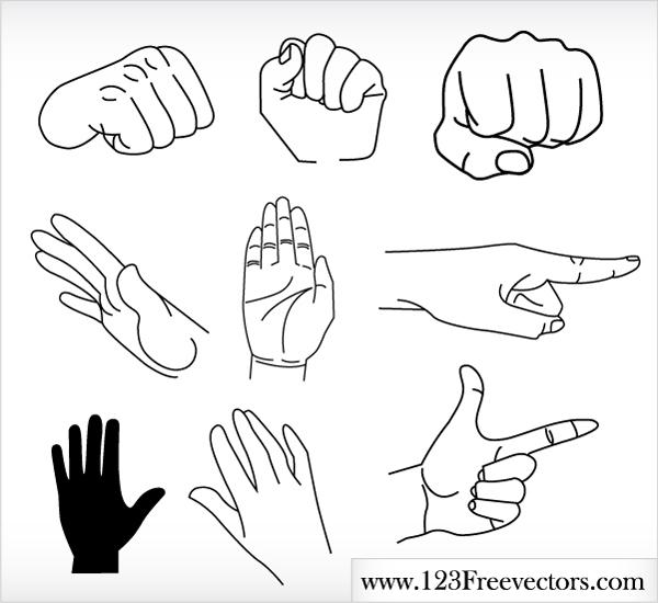 free vector Free Vector Hands : Human hands
