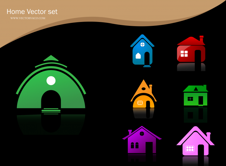 free vector Free Vector Home Icons