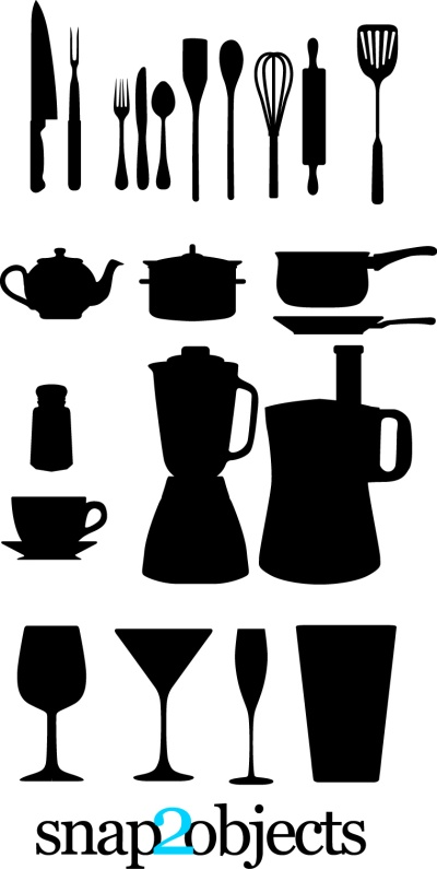 free vector Free Vector Kitchen Appliances Silhouettes