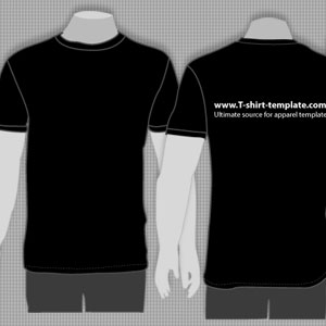free vector Free Vector Moder T-shirt Template Front & Back