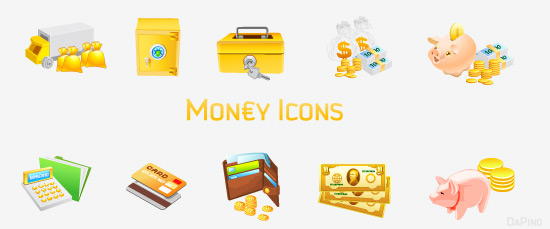 free vector Free Vector Money Icons