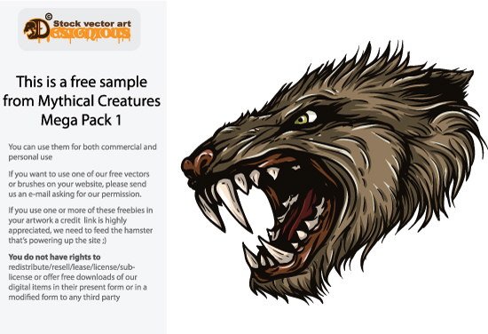 free vector Free Vector Mythical Creature Sample